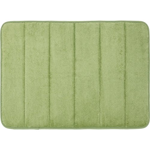 Qutain Soft Memory Foam Bath Mat Non Slip Rug 17 x 24-inch Ships From USA (Sage Green) (Bath Mat Foam Orange Memory)