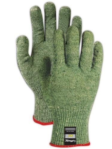 Magid AX150 CutMaster Aramax XT Lightweight Blended Seamless Machine Knit Glove, Work, Size 9, Yellow/Green (Case of 12)