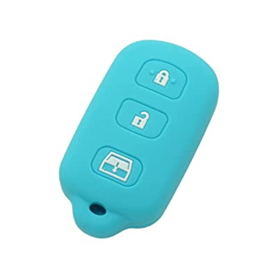 SEGADEN Silicone Cover Protector Case Skin Jacket fit for TOYOTA 3+1 Button Remote Key Fob CV2410 Light Blue: Automotive