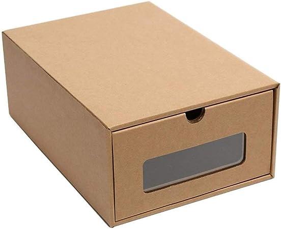 Organizador de zapatos de cartón grueso de Baffect, cajas y contenedores para el almacenamiento del hogar, transparente, For sport shoes: Amazon.es: Hogar