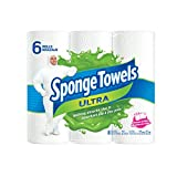 SpongeTowels Ultra Paper Towels, Choose-a-Size Regular Roll, 2-ply, 80 Sheets per Roll - 6 Rolls