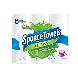 Image of SpongeTowels Ultra Paper Towels, Choose-a-Size Regular Roll, 2-ply, 80 Sheets per Roll - 6 Rolls