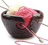 abhandicrafts - Black Friday Deals Cyber Monday Deals- AB Handicrafts - Ceramic Black Yarn Bowl for Knitting, Crochet for Moms - Beautiful Gift on All Occasions.AB handicrafts
