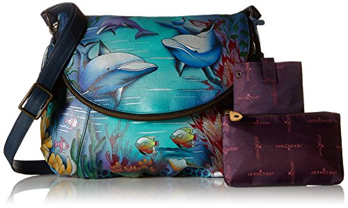 Anuschka World LL Convertible Over Flap Large Dolphin rxPUwfrq