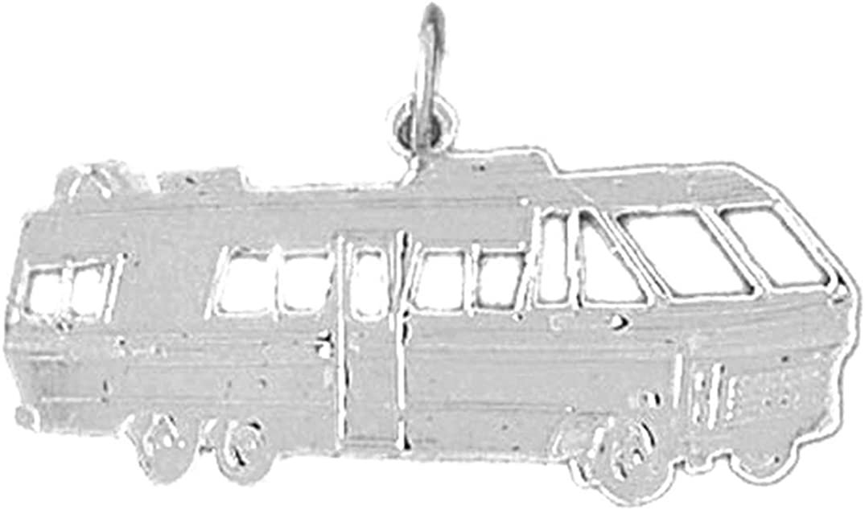 Jewels Obsession Rv Recreational Vehicle Pendant Sterling Silver 925 Rv Recreational Vehicle Pendant 19 mm