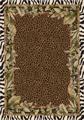 Milliken Jungle Safari 5 x 8 Oval Emerald Area Rug