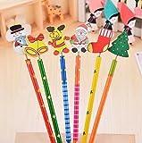 RICISUNG 6PCS Creative Wood Pencils HB Drawing & Painting Supplies