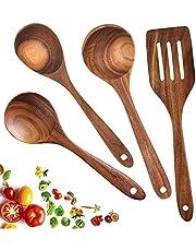 Wooden Kitchen Utensil Set Teak Cooking Utensils Nonstick Cookware Spatula Spoon Turner 5 PCS