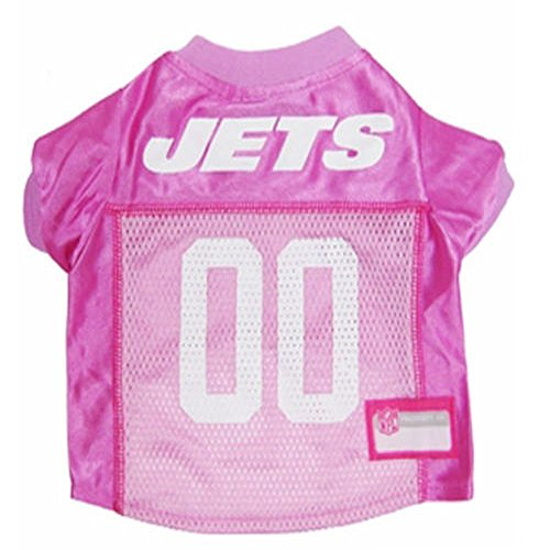 (New York Jets Dog Jersey Pink, Small. - Football Pet Jersey in Pink)