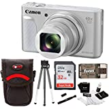 Canon Powershot SX730 Digital Camera Bundle (32GB, Silver)