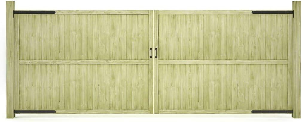 ghuanton Puertas de Valla de jardín 2 Unidades Madera Pino FSC 400x150cmBricolaje Vallas de jardín Puertas de jardín: Amazon.es: Hogar