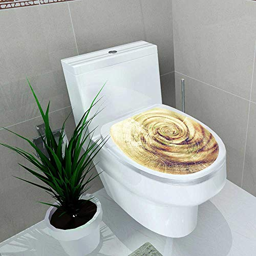 Decal Wall Art Decor Spherical Grunge Texture Detailed Macro Closeup Vintage Composition Color Bathroom Creative Toilet Cover Stickers W13 x L18 ()