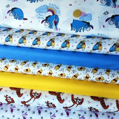 Fat Quarter Disney Winnie The Pooh And Friends Feathers Cotton Quilting Fabric