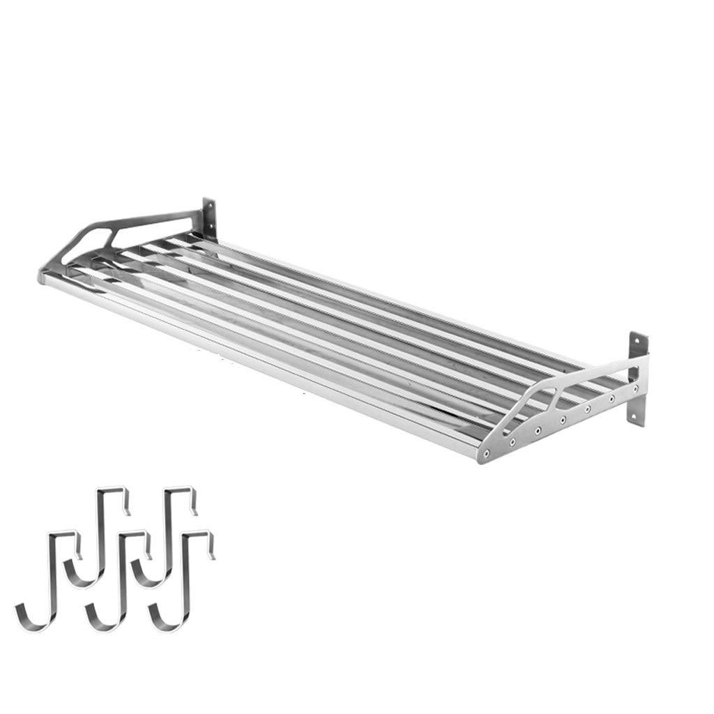 ステンレスキッチンラック壁ポット収納ラック60×35 cm QYSZYG (Size : 100cm) B07TRFPGR3  100cm