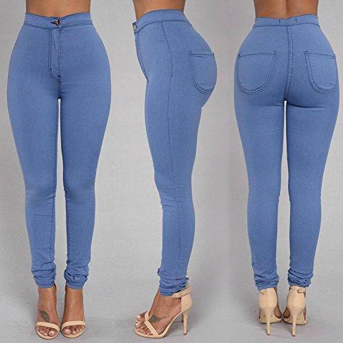 Nuevo Azul high-waist Stretch Skinny Jeans pantalones Casual Wear Club Wear tamaño M UK 10–�?2EU 38–�?0