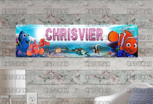 Finding Nemo Personalized - Customized Name Painting Finding Nemo Poster with Your Name On It Personalized Banner