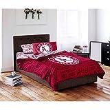 5 Piece NCAA University of Alabama Crimson Tide Comforter Queen Set, Sports Patterned Bedding, Featuring Team Logo, Fan Merchandise, Team Spirit, College Football Themed, Red Multi