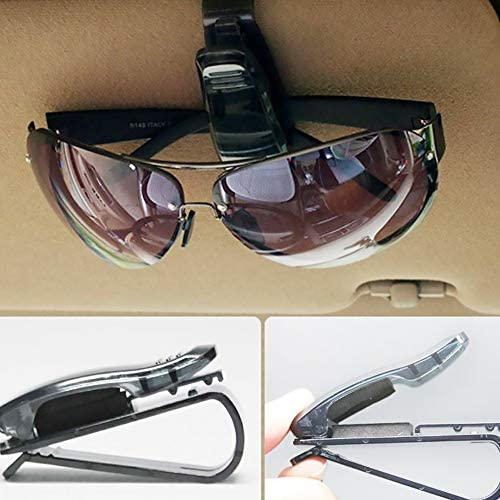 YaptheS Sun Visor Car Black Glasses Eyewear Clip Card Holder Ticket Car Sunglasses Ticket Receipt Card Clip Storage Holder Holder Mount Perfect for car Using