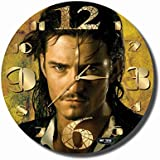 ART TIME PRODUCTION Pirates of The Caribbean-William Turner 11'' Handmade Wall Clock - Get Unique décor for Home or Office – Best Gift Ideas for Kids, Friends, Parents and Your Soul Mates