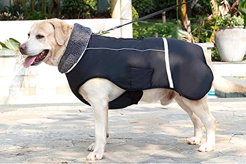 ZEEY Cold Winter Warm Padded Pet Coat, Water Resistant Dog Jacket Winter Pet Dog Clothes Apparel
