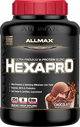 ALLMAX Nutrition Hexapro Ultra-Premium Protein Blend, Chocolate, 5.5 lbs ()