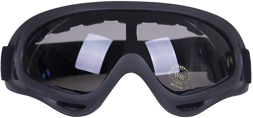 ValueHall Al aire libre a prueba de viento esquí gafas con protección UV, montar lentes CS ejército táctico gafas militares gafas de seguridad de la motocicleta (Gris)
