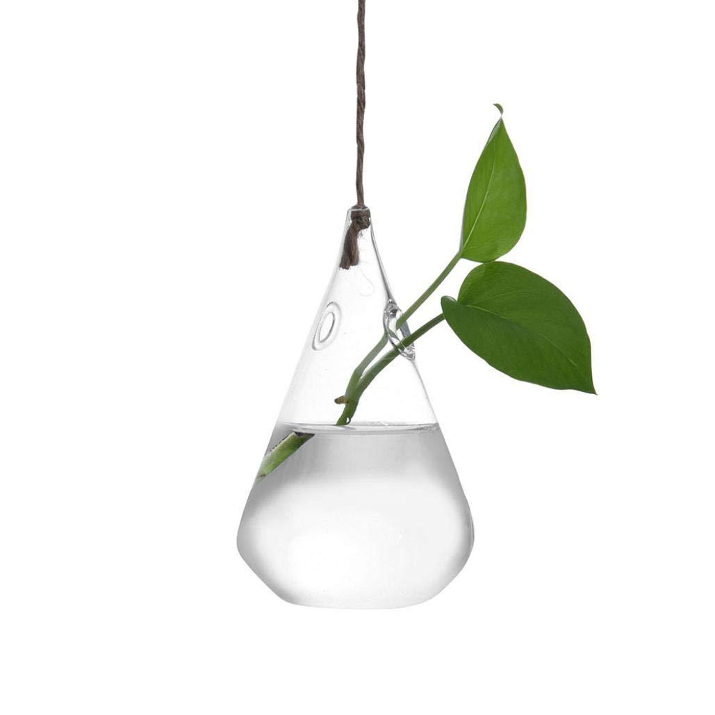 TAOtTAO Hanging Glass Ball Vase Flower Plant Pot Terrarium Container Party Wedding Decor