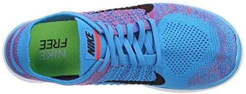 Nike 631053 603 Libero 4.0 Flyknit Herren Sportschuhe - In Esecuzione Blau (laguna Blu / Rosso Vivo / Gioco Royal / Bianco)
