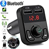 Bulges 3 in 1Bluetooth Car FM Transmitter Wireless Adapter USB Charger Mp3 Player