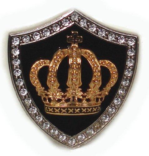 BeltsandStuds Goth Punk Rhinestone Gold Crown Metal Buckle Silver (Crown Belt Buckle)