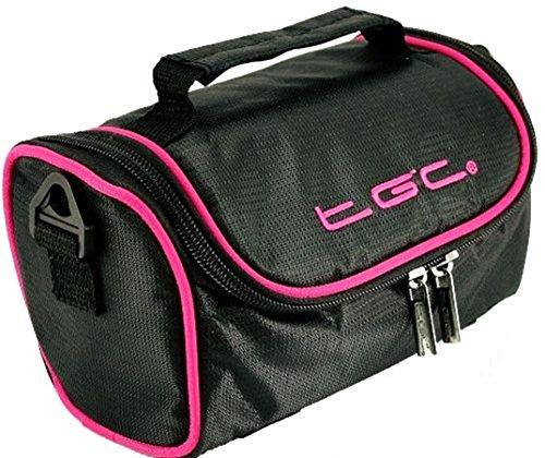 Black Cool Trims Porter With Crimson Pink TGC Trims Femme à Blanc Jet à White pour l'épaule Sac with Hot Red SSZRqOBg