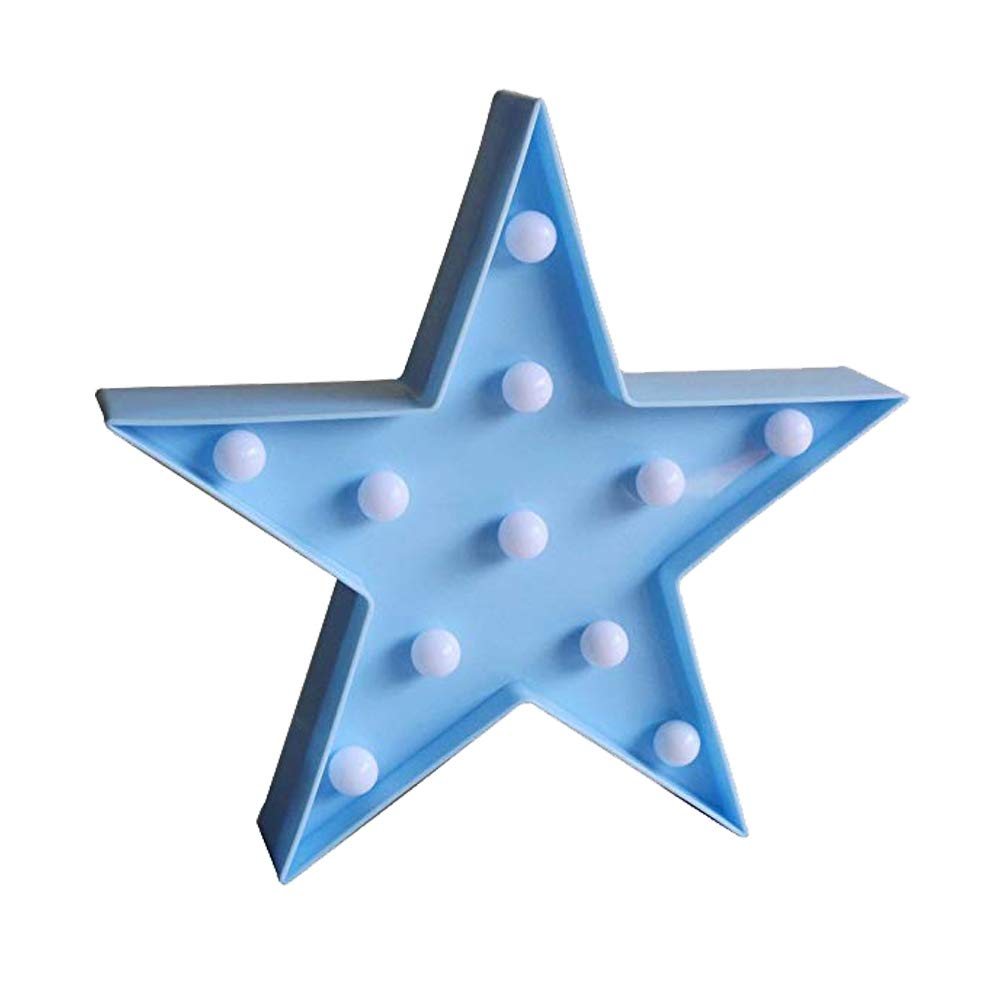 3D Star Light,LED plastic Star Shaped Sign-Lighted Marquee Star Sign Wall Decor for Chistmas,Birthday party,Kids Room, Living Room, Wedding Party Decor,Romantic Deco Lamp Night Table Light(White ) QiaoFei QFSTARLH-02