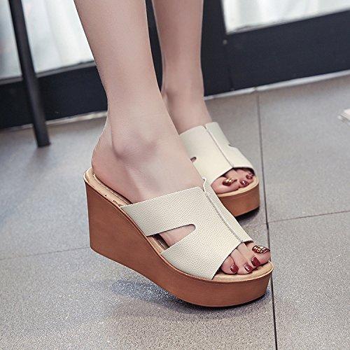 ZPPZZP Ms sandali pantofole estate trascinare pendenza 36EU bianca spessa