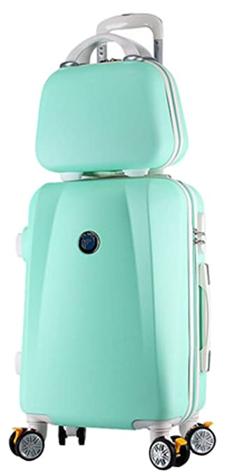 3f32bc4ba188 Song Luggage Spinner ABS Trolley Travel Lightweight Hardshell Suitcase - 20  Inch Mint Green Set
