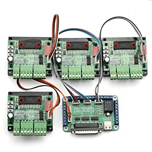 SainSmart New 4 Axis TB6560 CNC Stepper Motor Driver Controller Board Kit,57 two-phase,3A from Sain Store