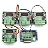 SainSmart New 4 Axis TB6560 CNC Stepper Motor Driver Controller Board Kit,57 two-phase,3A