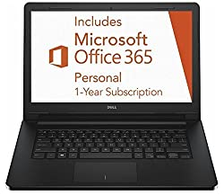 "Dell Inspiron 3452 14"" Windows 10 Laptop Intel Celeron N3050 2GB 32GB eMMC Flash with Office 365 Personal for One Year by Dell Computers"