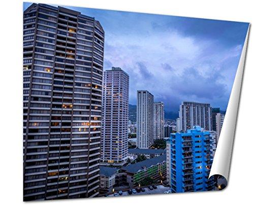 Ashley Giclee Fine Art Print, Ala Moana Boulevard And Honolulu Skyline, 16x20, - Moana Buy Best Ala