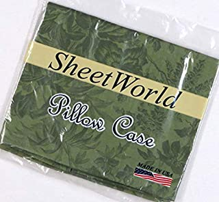 product image for SHEETWORLD.COM Floral Green Cotton Baby Pillow Case