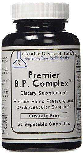 Premier Research Labs Premier B. P. Complex Blood Pressure Formula -- 240 Vegetable Capsules (4 bottles) by PR Labs