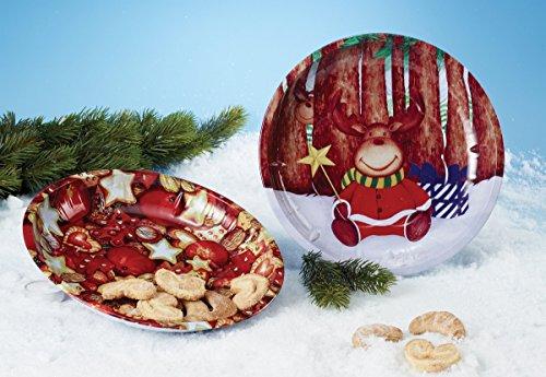 Weihnachtsteller TELLER METALL 26CM SORTIERT 11528