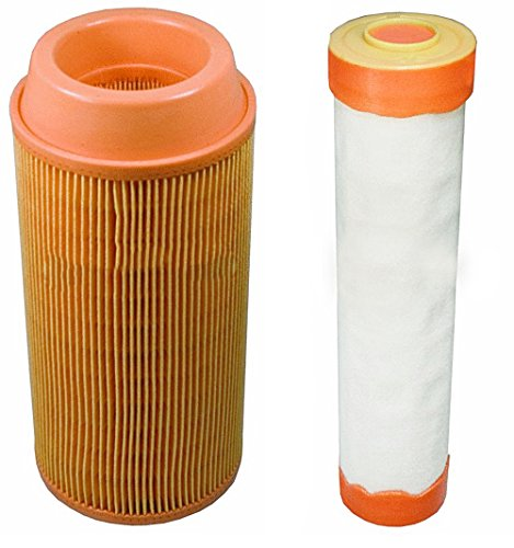 Outer & Inner Air Filter Combo Kubota ZD323 ZD326 ZD331 Zero Turn Lawn Mowers K3181-82240, (Kubota Air Filter)