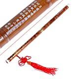 Traditional Handmade Chinese Musical Instrument Bamboo Flute Dizi in D Key 1 Set
