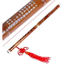 Kmise Traditional Handmade Chinese Musical Instrument Bamboo Flute Dizi in D Key 1 Pcs