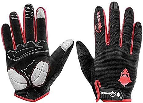 RIGWARL Cycling Gloves for Men,Winter Touch Screen Gloves with Waterproof and Windproof