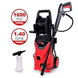 PowRyte Basic 1600PSI 1.4GPM Electric Pressure Washer with Hose Reel, External Detergent Dispenser
