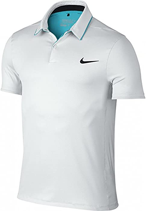 75ae139a2 Nike Mens Dri-Fit Modern Momentum Fly UV Reveal Golf Polo White 873152 100  Size. Back. Double-tap to zoom