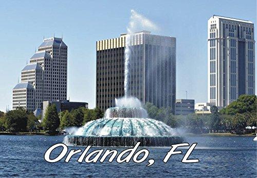 Orlando, Florida, Fountain, City, FL, Souvenir Magnet 2 x 3 Photo Fridge - In Florida Orlando Airports