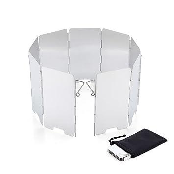 9 platos campamento estufa parabrisas plegable Picnic Cocina Estufa viento protector de de aleación de aluminio