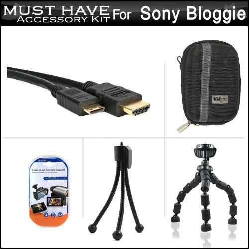 Essential Accessories Bundle Kit For Sony Bloggie Live , Son